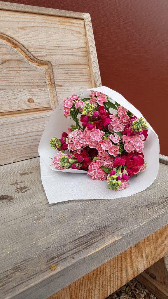 Pink rosa Blumenstrauß