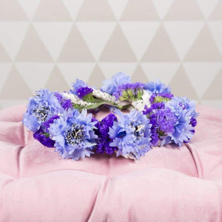 Blumenhaarkranz Kornblumen