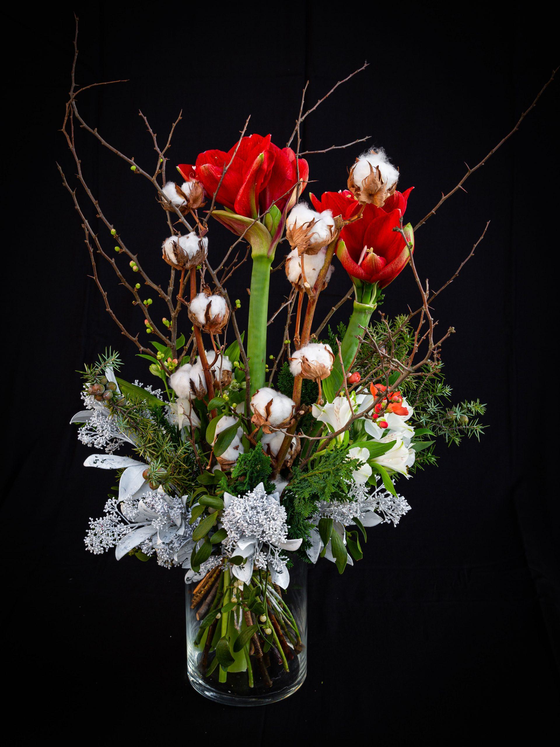 Blumenstrauß in rot weiß